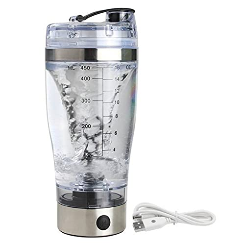 5665 Botella de Coctelera Eléctrica Portátil, Recargable, Licuadora Eléctrica, Adecuado para Personas Que Hacen Ejercicio, Botella Fácil de Limpiar, Sin BPA,450ml