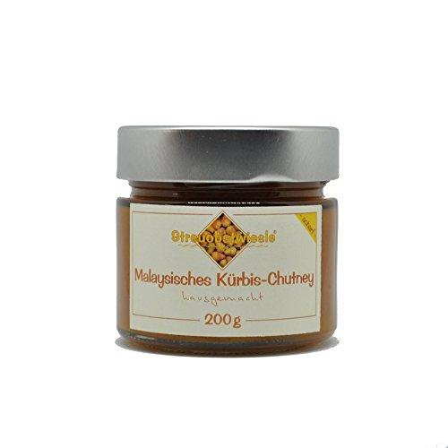 Streuobstwiesle Malaysisches Kürbis Chutney - 200 g - Herzhafte, aromatische Sauce zum Grillen, zum Fondue, zum Raclette, zum Kase, zum Reis...