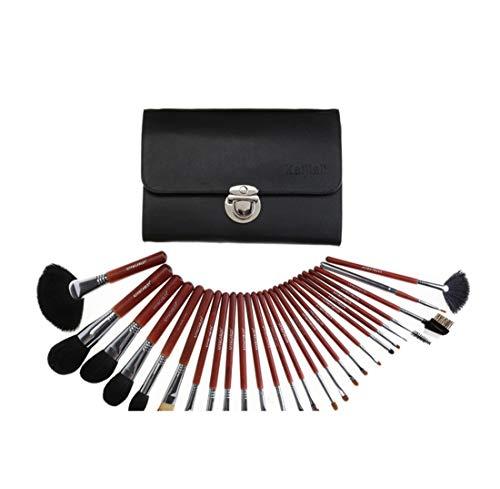 Ensemble de pinceaux de maquillage Maquillage Pinceaux 26 Pcs Premium Synthétique Fondation Kabuki Mélange Fard À Paupières Visage Brosse Set Nylon Brosse Cosmétique (Couleur : A4)
