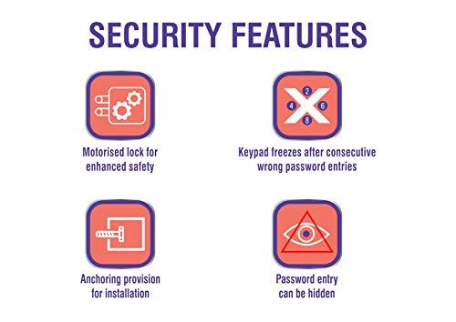 Godrej Security Solutions Forte Pro 15 litres Digital Electronic Safe Locker (Light Grey)