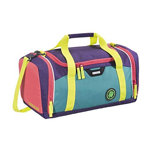 """Coocazoo Sporttasche SporterPorter """"Holiman"""", blau-gelb-lila, Nasswäschefach, Seitentasche, Schuhfach, Abnehmbarer, Verstellbarer Schultergurt, für Mädchen ab der 5. Klasse, 20 Liter"""