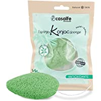 Esponja facial Konjac Té Verde 100% biodegradable - Casalfe