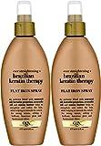 Organix Ever Straight Brazilian Keratin Therapy Flat Iron Spray, 6 Ounce (Set of...