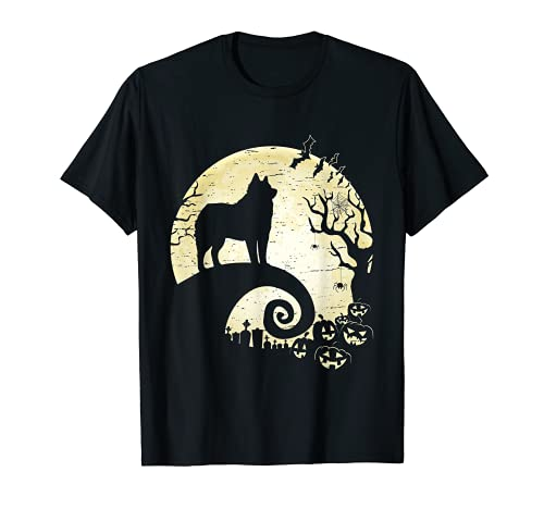 Lustiges American Eskimo Hexe Kürbis Halloween Kostüm T-Shirt