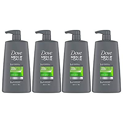 Dove Men+Care 2 in 1 Shampoo and Conditioner Fortifies Hair Fresh and Clean Helps Strengthen Hair 25.4 oz, Pack of 4