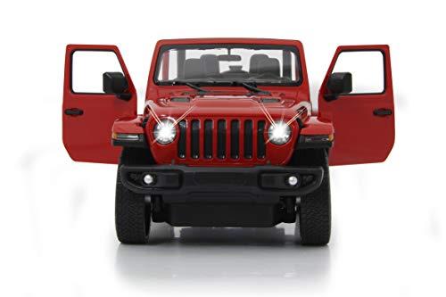 JAMARA 405179 - Jeep Wrangler JL 1:14 2,4GHz Tür manuell - offiziell lizenziert, bis 1 Std Fahrzeit, ca. 11 Kmh, perfekt nachgebildete Details, detaillierter Innenraum, LED Licht
