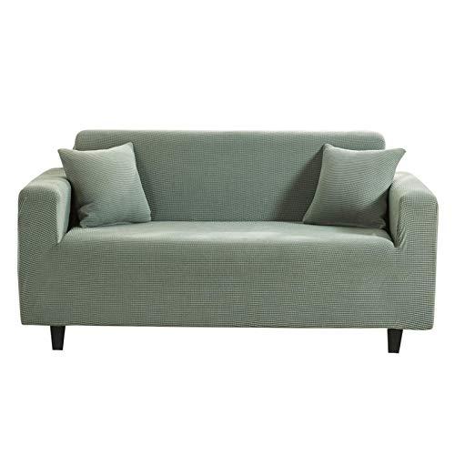 WLVG Funda para sofá, Tela elástica elástica, Tela de Licra, Muebles, Funda para sofá, sofá, Fundas para sofá, Protector para Perros y Mascotas, Resistencia, Verde, 1 Plaza