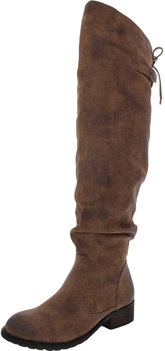 Very Volatile Daja Women's Over the Knee Fashion Buckle Boots