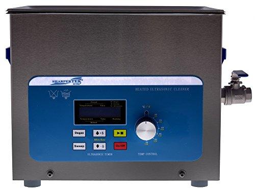 "SharperTek XPD360-8L Heated Ultrasonic Cleaner, 2.1 gal Tank Capacity, 110V, 50/60Hz, 660W, 18"" L x 11"" W x 10.75"" H, 10.75"" Height, 11"" Width, 18"" Length"