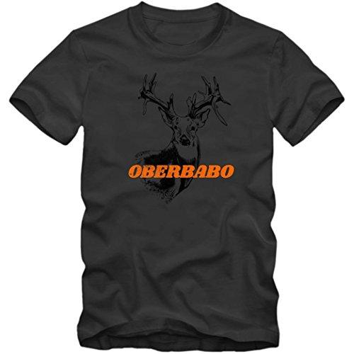Oberbabo #1 T-Shirt | BABO | Wer ist Hier der BABO | Haftbefehl | Herren | Shirt, Farbe:Dunkelgrau (Dark Grey L190);Größe:XL