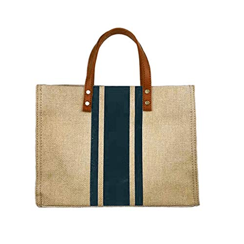 DOLDOA Damen Rucksack Handtasche,2019 Frau tragbare Aktentasche Business One Schultertasche Canvas Big Bag Handtasche (Marine)