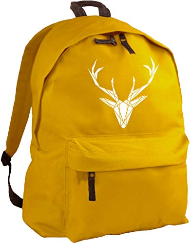 HippoWarehouse geometric stag backpack ruck sack Dimensions: 31 x 42 x 21 cm Capacity: 18 litres