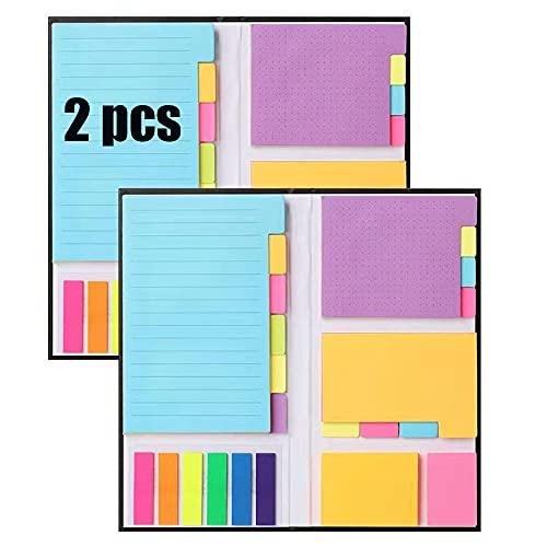 NAUXIU 2 piezasNotas Autoadhesivas,Set Notas Adhesivas,Notas Adhesivas de Papel,Accesorios Material de Oficina,Útiles Escolares Ldeales