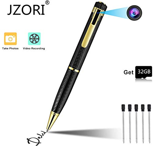 Spy Camera Pen Hidden Camera Pen 1080P Portable Camcorder with 32GB Memory Card Covert Camera for Business Conference, Class, and Evidence Shooting
