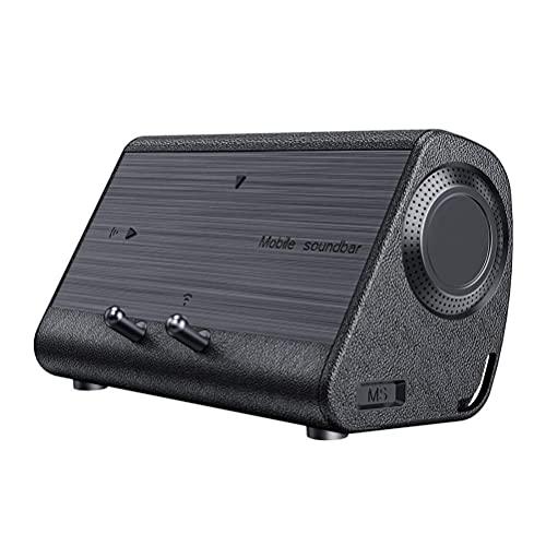 HHHJ Altavoz portátil Teléfono móvil altavoz inalámbrico inducción estéreo inalámbrico emparejamiento con sensor y soporte de teléfono móvil Mini MS altavoz