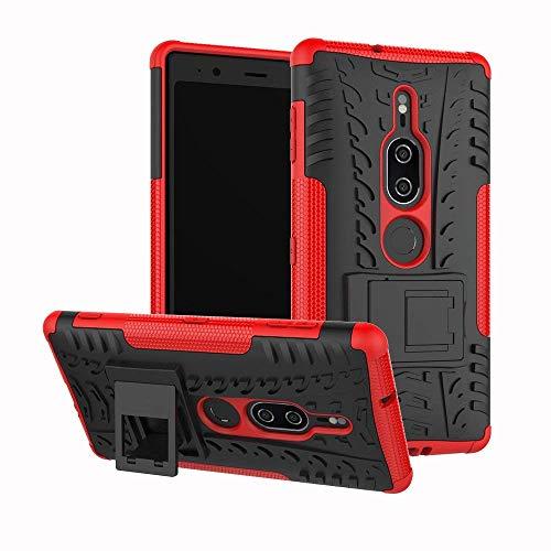Lapinette Coque Compatible avec Sony Xperia XZ3 Antichoc - Coque Xperia XZ3 Protection AntiChocs - Protection Sony Xperia XZ3 Coque Antichoc Rigide Modèle Spider Rouge