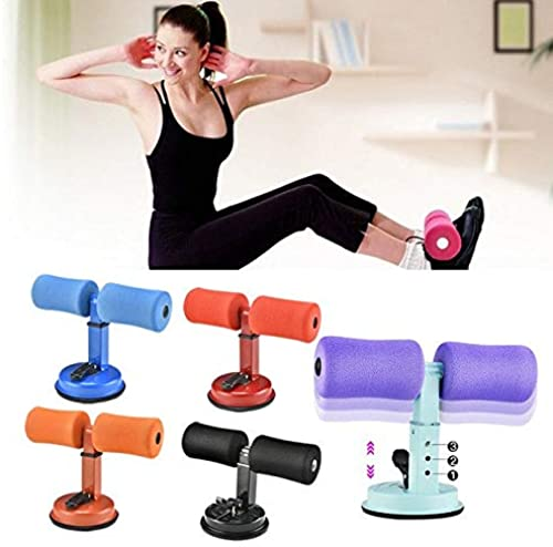 The Bling Stores Sit Up Bar Pushup Stands Exercise Health Portable Self Suction Abdominal Suction Yoga Floor Bar With Comfortable Padded Ankle And Support Fitness For Home Multi Color Pack Of 1