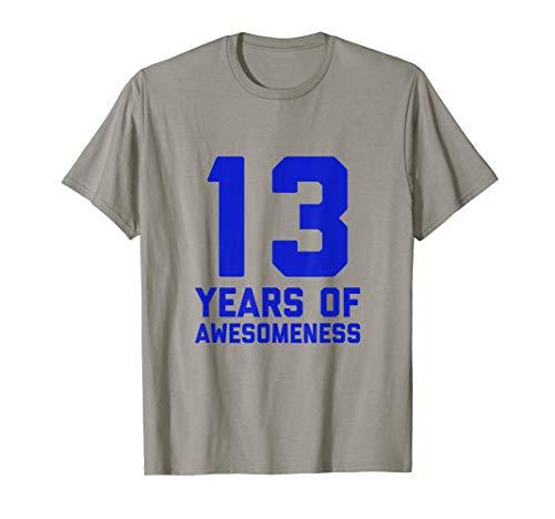 13 cumpleaños Camisa de regalo Chicos de 13 años de edad Camiseta