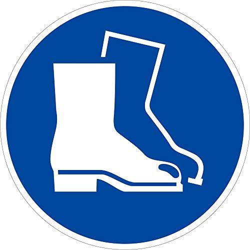 Schild Fußschutz benutzen 20cm Ø PVC ISO 7010, M008