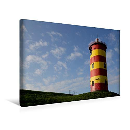 Lienzo Calvendo prémium de 45 cm x 30 cm horizontal, faro Pilsum en Frisia oriental, imagen sobre bastidor, imagen lista para colocar sobre lienzo auténtico. También conocido como la torre de Otto.