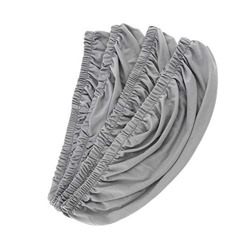 4x grau dehnbar elastische Schonbezüge Abdeckung Esszimmer Stuhl Sitzbezug Esszimmerstuhl