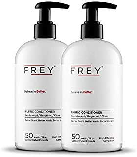 FREY Natural Liquid Fabric Softener - 2 Pack, Fabric Conditioner Keeps Clothing Looking, Feeling and Smelling Better