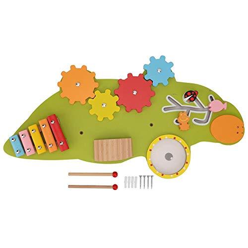 Zerodis Panneau d'activités murales Jouet, Panneau d'activité Tableau d'activité Principes de Montessori Conseil d'apprentissage Naturel pour garçon et Fille
