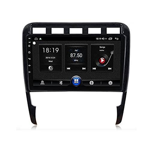 ADMLZQQ 2 DIN Android 10.0 Touch Screen da 9 Pollici Autoradio per Porsche Cayenne 2002-2010,Supporto Bluetooth/Controllo del Volante/Mirror-Link/Telecamera di Retromarcia/WiFi/Carplay,7731,1G+16G