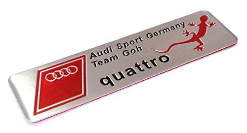 『Audi Sport quattro アウディ クワトロ 金属ステッカー』の1枚目の画像