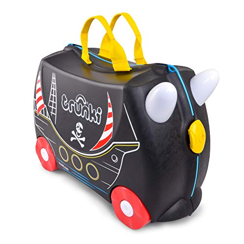 Trunki Original Kids Ride-On Suitcase and Carry On Luggage (Pedro Pirate (Black))