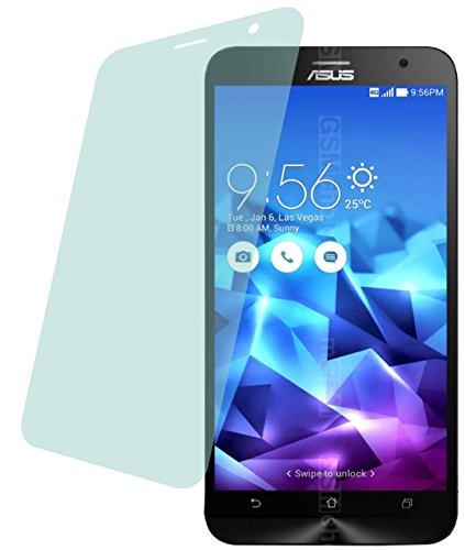 4ProTec Asus ZenFone 2 Deluxe (2 Stück) Premium Bildschirmschutzfolie Displayschutzfolie kristallklar Schutzhülle Bildschirmschutz Bildschirmfolie Folie
