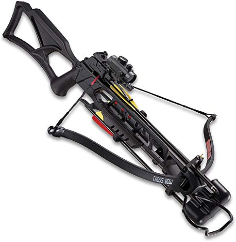 K EXCLUSIVE Avalanche Anaconda Recurve Black Crossbow - Composite Stock, 175-LB Draw, 245 FPS, Red-Dot Scope, Picatinny Rail