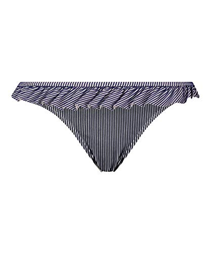HUNKEMÖLLER Bikinihose Ruffle Stripe Blau L