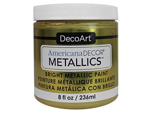 Deco Art Americana Décor - Tarro metálico de Pintura (7 x 7 x 8 cm), Color Dorado