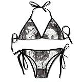Bikini Trajes de baño Acero Envejecido B con Grietas tonificadas y Efectos Desgastados Conjuntos de Bikini con Estampado de inspiración cerámica Traje de baño Traje de baño