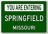 JUCHen Springfield Missouri Metal Aluminum Sign Wall Decor Man Cave Bar