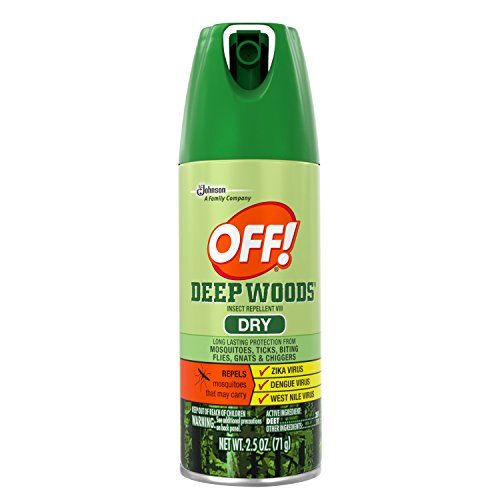 OFF! Deep Woods Insect & Mosquito Repellent, Long lasting Dry Aerosol Bug Spray, 2.5 oz. (Pack of 12)