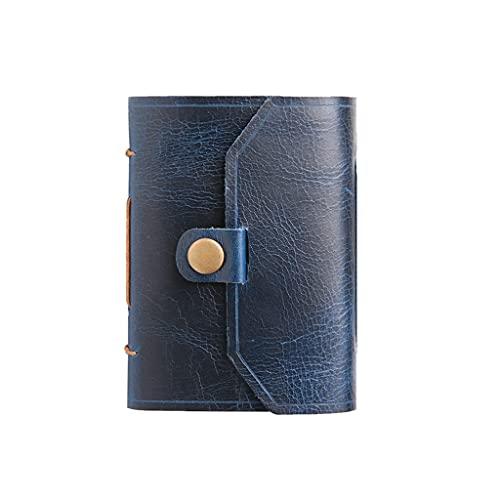 Cuaderno clásico Escritura Cuaderno de Bolsillo viajeros de Cuero Hand Stitch Journal & Diary para Hombres y Mujeres 160 Hojas para Adolescentes niñas y niños (Color : Blue)