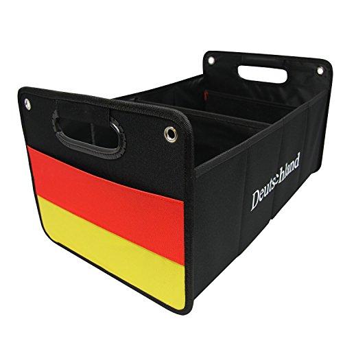 CB Präsentwerbung GmbH Kofferraumtasche aus Polyester mit stabilem Boden (Deutschland) - Klappbox Kofferraumbox Faltbox Organizer Autobox Tasche Auto Kofferraum Zubehör