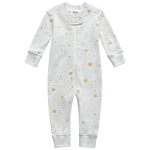 Owlivia Pijama para bebé de algodón orgánico, manga larga Estrella dorada. 6-12 Meses