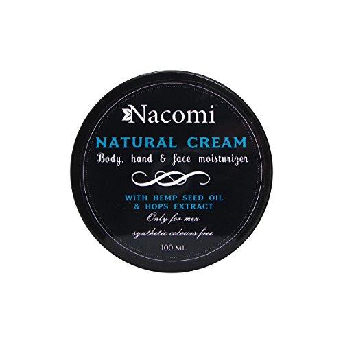 Nacomi Natural Moisturizing Cream Only for Men Hop Extract & Hemp Oil 100ml