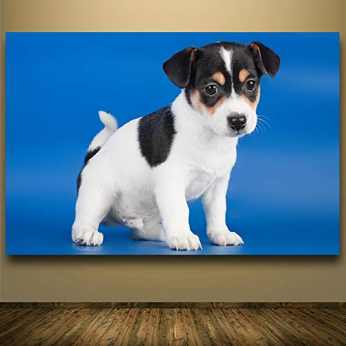 yaonuli HD niedlichen Hund Leinwanddruck Wohnzimmer Dekoration Malerei Moderne Tier Ölgemälde Kunst Geschenk Bild rahmenlose Malerei 30x45cm