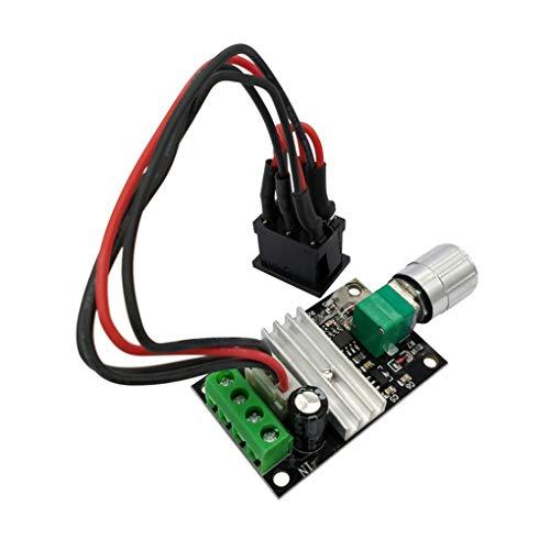 Kesilian Controlador de Velocidad de 6V 12V 24V 3A 80W DC Motor PWM de Velocidad Ajustable Interruptor Reversible del Conductor 1203BB DC Motor Inversión