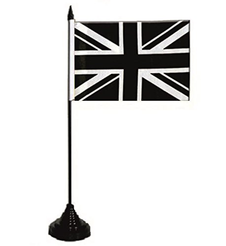 Drapeau U24 Table Drapeau De La Grande-Bretagne Drapeau Union Jack Noir 10 x 15 cm
