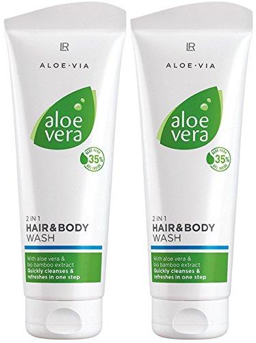 LR Aloe Vera Shampooing pour cheveux et corps (2x 250 ml)