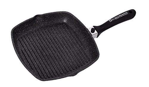 SCHUMANN PROFESSIONNEL SGR2302800 Poêles Grill moove Noir, Fonte d'Aluminium/Revêtement, 28 cm