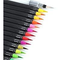 JueYan® 21pcs Brunsh Pen 20 Colores Rotuladores Acuarelables y 1 Pincel de Agua Rotuladores Acuarelables Caligrafía Manga Punta Suave