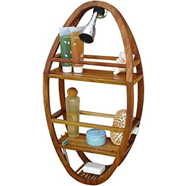 Patented Moa Oval Teak Shower Organizer
