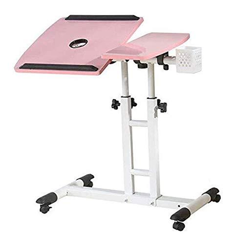 NJYT Folding Wand- Klapptisch Multifunktions-Computer-Schreibtisch Esstisch Stehen Laptop-Schreibtisch mit Roller