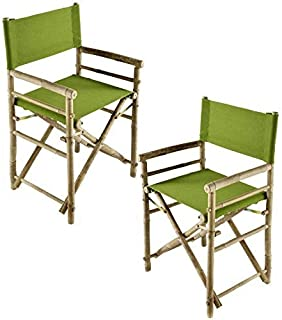 Zew Replacement UV Treated Color Durable Canvas for Bamboo Folding Directors Chairs, Olive